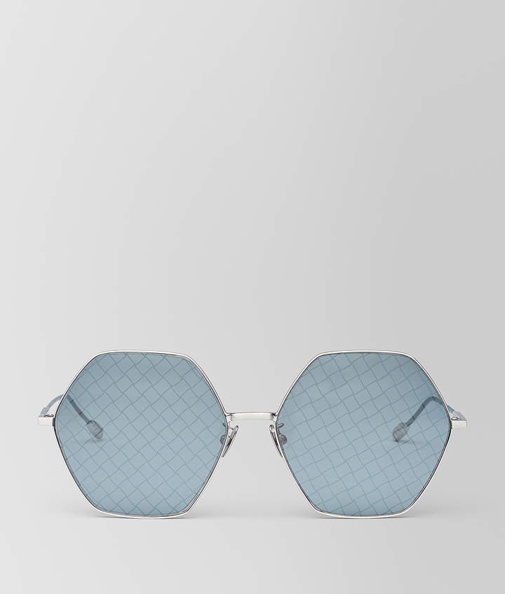 Bottega Veneta SILVER METAL SUNGLASSES