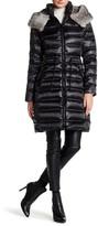 Dawn Levy Adel Genuine Rabbit Fur Trim Down Jacket