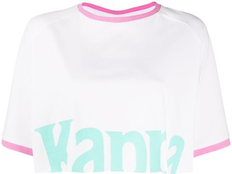 Kappa logo print cropped T-shirt