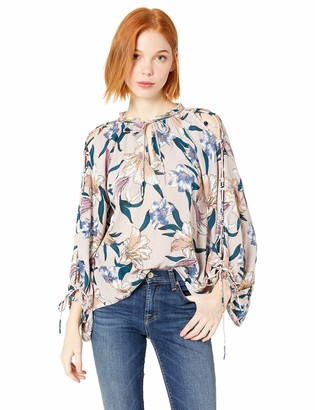 O'Neill Women's Barbados Woven Top with Long Blouson Sleeves