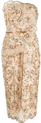 ZUHAIR MURAD Sequin-Embellished Strapless Dress