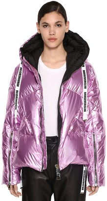 KHRISJOY Quilted Metallic Down Jacket