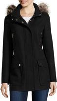 A.N.A a.n.a Faux-Fur Trim Casual Zip Wool-Blend Coat - Tall