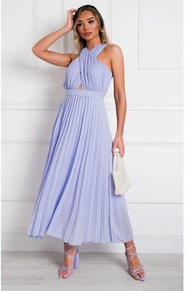 IKRUSH Ryanna Pleated Crossover Maxi Dress