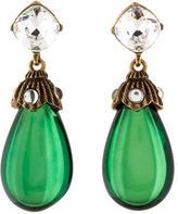 Oscar de la Renta Crystal Earrings