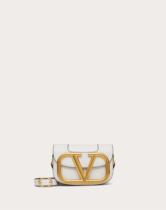 Valentino Small Supervee Calfskin Crossbody Bag Women Optic White 100% Pelle Di Vitello - Bos Taurus OneSize