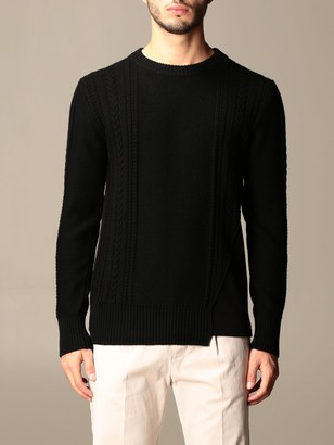 Paolo Pecora Bi-material Crew Neck Sweater