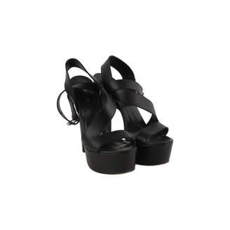 Non Signé / Unsigned Non Signe / Unsigned Black Leather Sandals