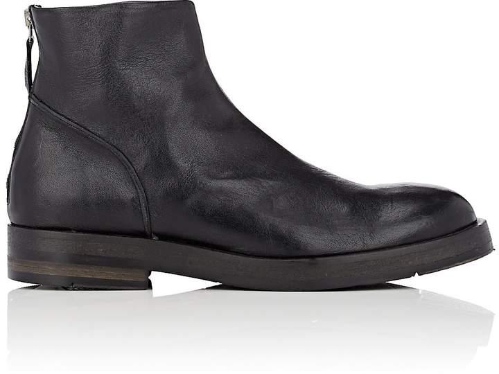 Barneys New York Men's Leather Back-Zip Boots
