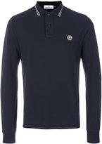 Stone Island long-sleeved classic polo shirt
