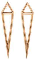 Eva Fehren Rose Gold Dagger Stud Earrings