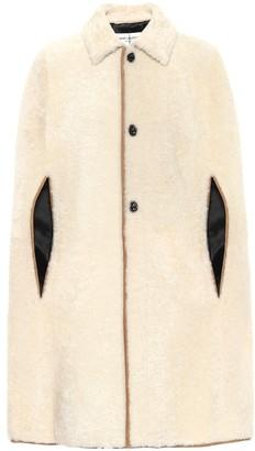 Saint Laurent Shearling poncho coat