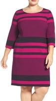 Tahari Stripe Sheath Dress (Plus Size)