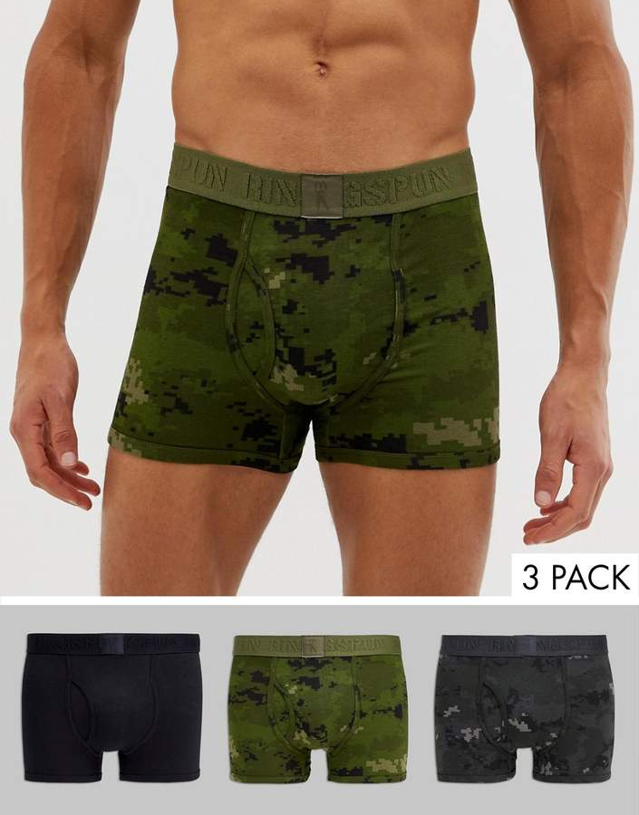 Ringspun 3 pack camo trunks