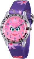 Sesame Street Girls Purple Flower Abby Cadabby Time Teacher Strap Watch W003158