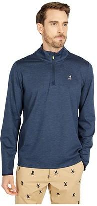 Psycho Bunny Funnel Golf Jacket (Navy) Men's Clothing