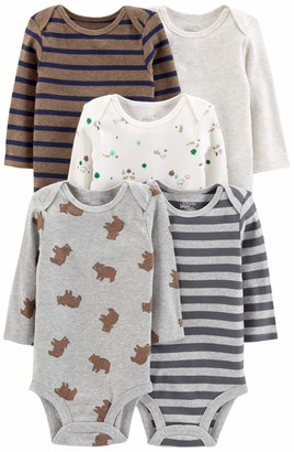 Simple Joys by Carter's 5-pack Long-sleeve Bodysuit Undershirt