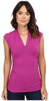 Vince Camuto S/L Pleat V-Neck Top