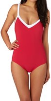 Seafolly Block Party Sweetheart Maillot Swimsuit