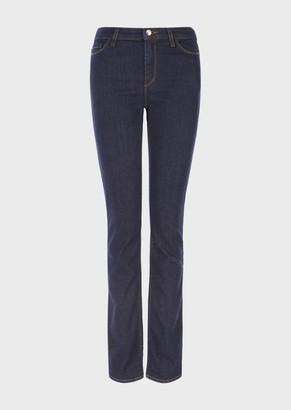 Emporio Armani J85 Blue-Rinsed, Regular-Fit Denim Jeans