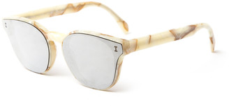 Illesteva Rectangle Lenses-Over-Frame Sunglasses