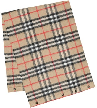 BURBERRY KIDS Vintage Check cashmere scarf