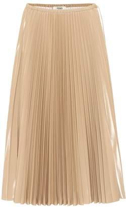 Fendi Pleated nylon midi skirt