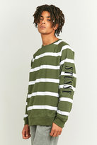 Stussy Khaki Striped Long Sleeve T-shirt