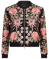 Needle & Thread Embroidery Rose Bomber Jacket