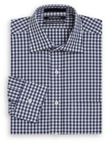 Saks Fifth Avenue Classic-Fit Gingham Cotton Dress Shirt