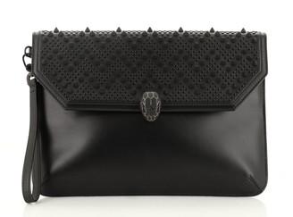 Bvlgari Nicholas Kirkwood Serpenti Forever Flap Clutch Studded Leather Medium
