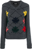 DSQUARED2 embroidered sweater - women - Polyamide/Polyester/Wool - XS