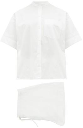 Jil Sander Organic-cotton Poplin Pyjamas - White
