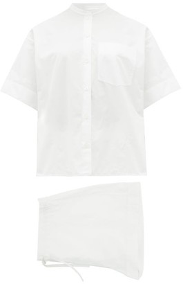 Jil Sander Organic-cotton Poplin Pyjamas - Womens - White