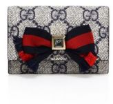 Gucci Grosgrain Bow Small GG Supreme Flap Wallet