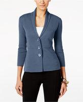 Alfani Three-Button Knit Jacket, Only at Macy's