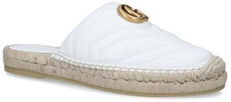 Gucci Leather Pilar Espadrille Slippers