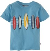 City Threads Surfboards Stripe Graphic Tee (Toddler/Kid) - Sea-7