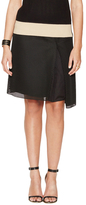 Reed Krakoff Honeycomb Jersey Asymmetrical Skirt