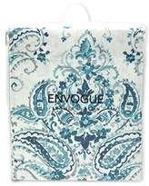 EnVogue Teal Blue Paisley Medallion Cotton Shower Curtain