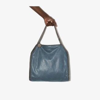 Stella McCartney blue Falabella small faux leather tote bag