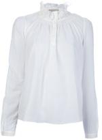 ruffle collar blouse
