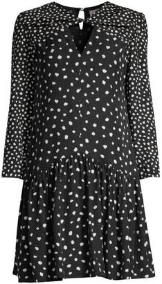 Rebecca Taylor Long Sleeve Dot Twist Dress