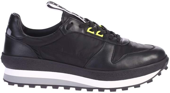 Givenchy Black Leather Inserts Sneakers