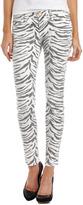Current/Elliott Vintage Zebra Skinny Ankle Jeans