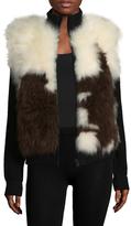 Zadig & Voltaire Ted Fur Contrast Jacket