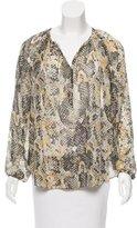 Isabel Marant Snakeskin Print Silk Top