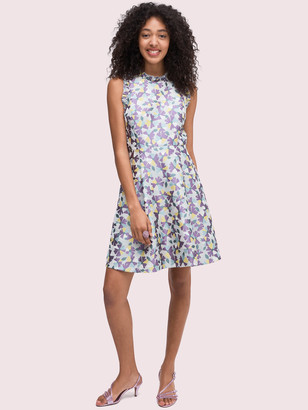 Kate Spade Floral Jacquard Fit-And-Flare Dress