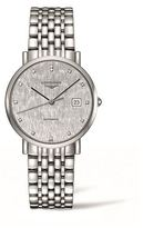 Longines Elegant Collection Striped Silver Watch