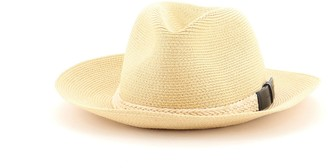 Hermes Fedora Hat Raffia with Leather Large